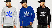Спортивная кофта Adidas, 3 цвета, синяя, серая, черная, Л41