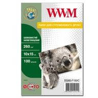 Фотобумага WWM шелковистая полуглянцевая 260г/м кв , 10см x 15см , 100л