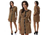 Модное офисное тёплое платье ( 3 цвета )