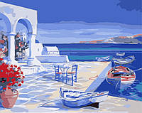 Картина по номерам Лазурь Санторини КН2140
