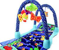 Коврик для малышей туннель 2в1 Подводный мир JDL555-3