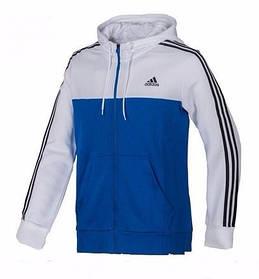 Толстовка Adidas, адидас, кофта, на змейке, сине-белая, С2