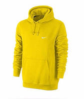 Толстовка Nike, найк, желтая, кенгуру, черное лого, спортивная, трикотаж, С11