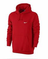 Толстовка Nike, найк, красная, кенгуру, белое лого, спортивная, трикотаж, С12