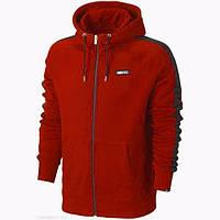 Толстовка Nike, найк, красная, на змейке, кенгуру, белое лого, спортивная, трикотаж, С13