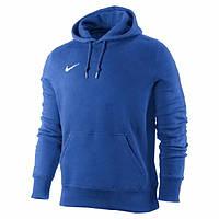Зимняя толстовка, Кофта Кенгуру, толстовка на флисе Nike, Найк, синяя, Кенгуру, толстовка, с капюшоном, С34