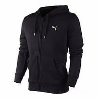 Толстовка Puma, пума, черная, кофта, трикотаж, в наличии, стильная, мелкое лого, спортивная, С46