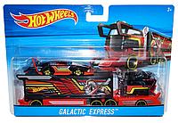Грузовик-трейлер Hot Wheels и машина Galactic Express BDW51