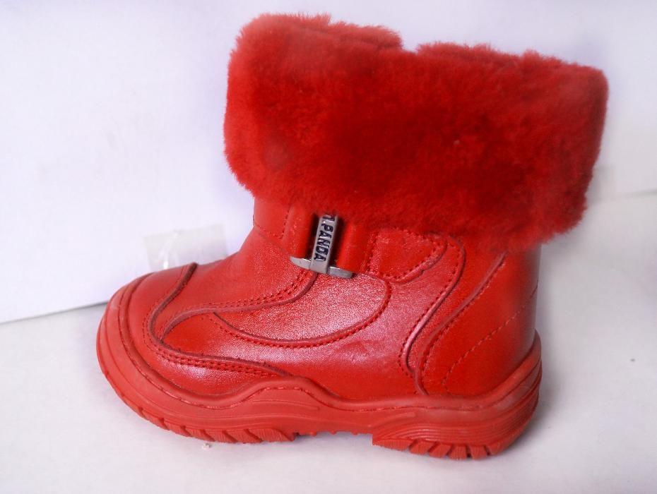 Распродажа!!! Зимние сапожки Турция Panda красные ортопедические