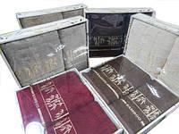 Набор махровых полотенец 70*140+50*90 бамбук FAKILI