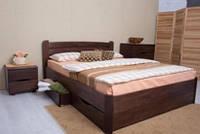 Кровать София(бук) с ящиками(царги из массива бука)