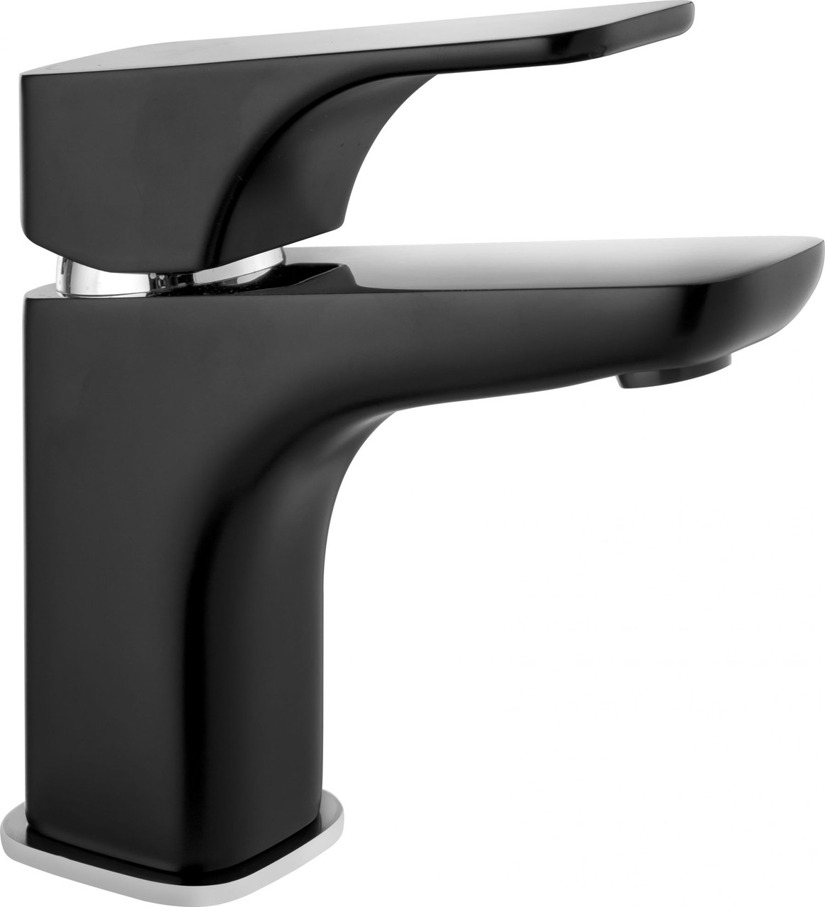 Смеситель для умывальника Deante HIACYNT  с системой click-clack, хром/черный