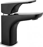 Смеситель для умывальника Deante HIACYNT  с системой click-clack, хром/черный, фото 1