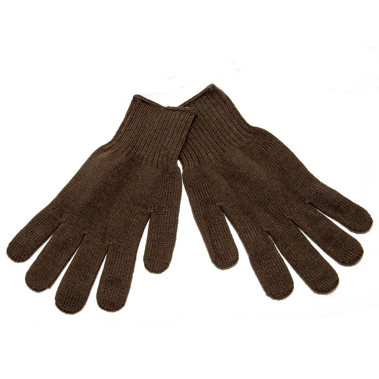 Перчатки вязаные, олива