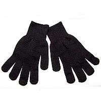 Перчатки вязаные, черные