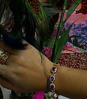 Магнитный лечебный браслет со стразами 8902 (фиолетовый камни)