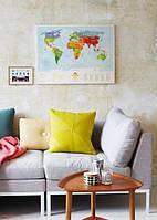 """Развивающая карта мира для детей """"Travel Map Kids Animals"""" (животные)"""