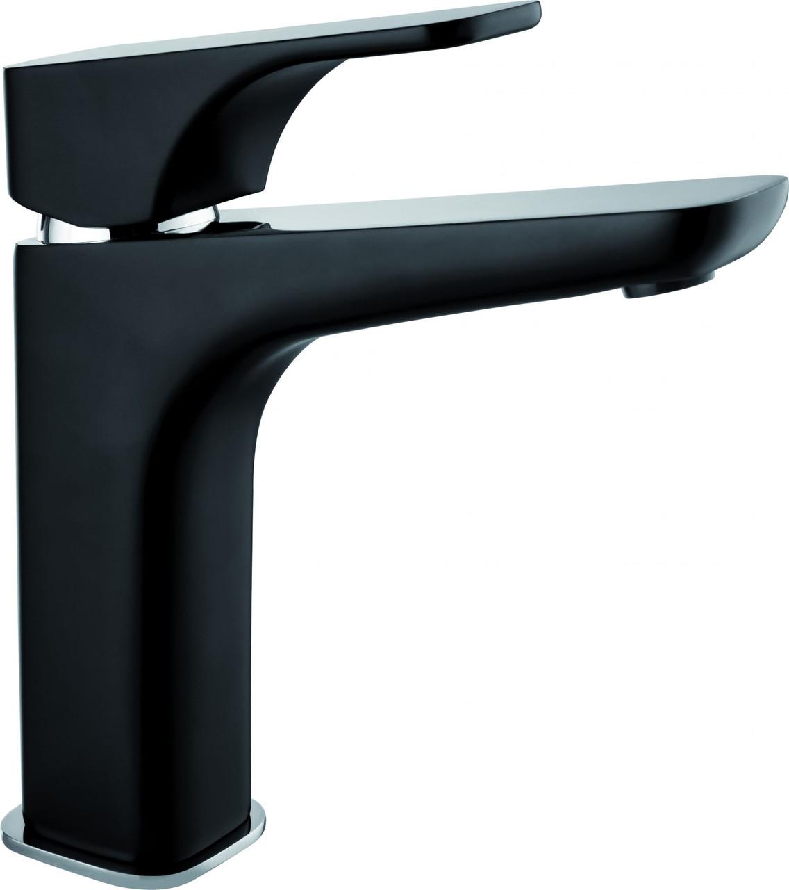 Смеситель для умывальника Deante HIACYNT с системой click-clack , высокий корпус, хром/черный