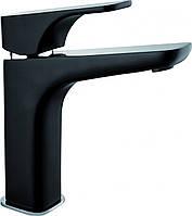 Смеситель для умывальника Deante HIACYNT с системой click-clack , высокий корпус, хром/черный, фото 1