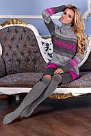Платье женское вязаное зимнее Melang 42–48р. в расцветках