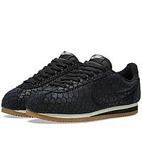 Оригинальные  кроссовки Nike Classic Cortez Leather Premium Black & Gum