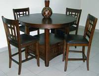 Деревянный  барный стол 4866