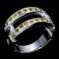 Цитрин, серебро 925, кольцо, 213КЦЦ