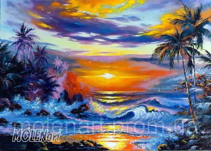 Фрески живопись море F 9011