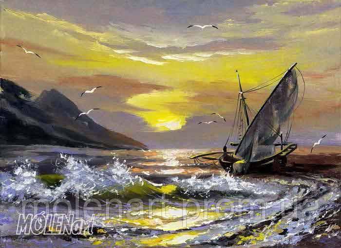 Фрески живопись море F 9002