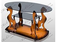 Стеклянный столик журнальный Багира
