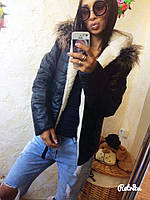 Теплая куртка с мехом внутри в расцветках, фото 1