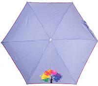 Оригинальный женский механический зонт NEX (НЕКС) Z65511-4037A Серо-синий