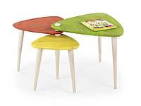 Журнальный столик Halmar Corsica состоящий из трех разных по величине столов разноцветный