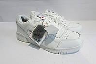 Мужские зимние белые кроссовки Reebok 1028-4 натуральная кожа и мех код 3057А