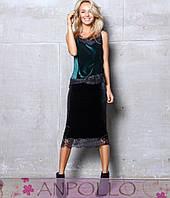 Красивая юбка бархатная+кружево