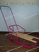 Санки с ручкой СД-1Р розовый