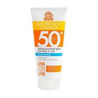Солнцезащитный крем для загара на солнце SPF 50.