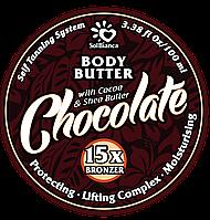 """Твердое масло-автозагар для тела """"Шоколад"""""""