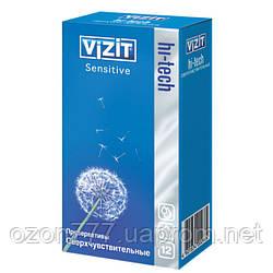 Презервативы сверхчувствительные VIZIT HI-TECH Sensitive 12 шт.