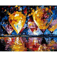 Картина по номерам Воздушные шары над заливом КНО1012 Идейка