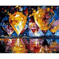 Картина по номерам Воздушные шары над заливом в коробке
