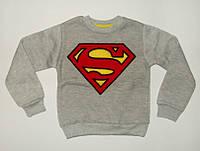 Джемпер для мальчика Супермен Очень теплый Серый Рост 86-92 см