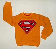Джемпер для мальчика Супермен Очень теплый Оранжевый Рост 86-104 см