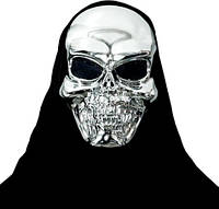 Маска черепа (маска скелета) серебро