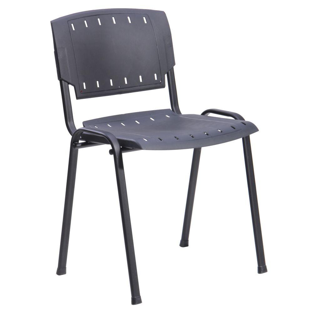 Офисный стул Призма черный пластик