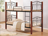 Двухъярусная кованная кровать Миранда, цвет каштан