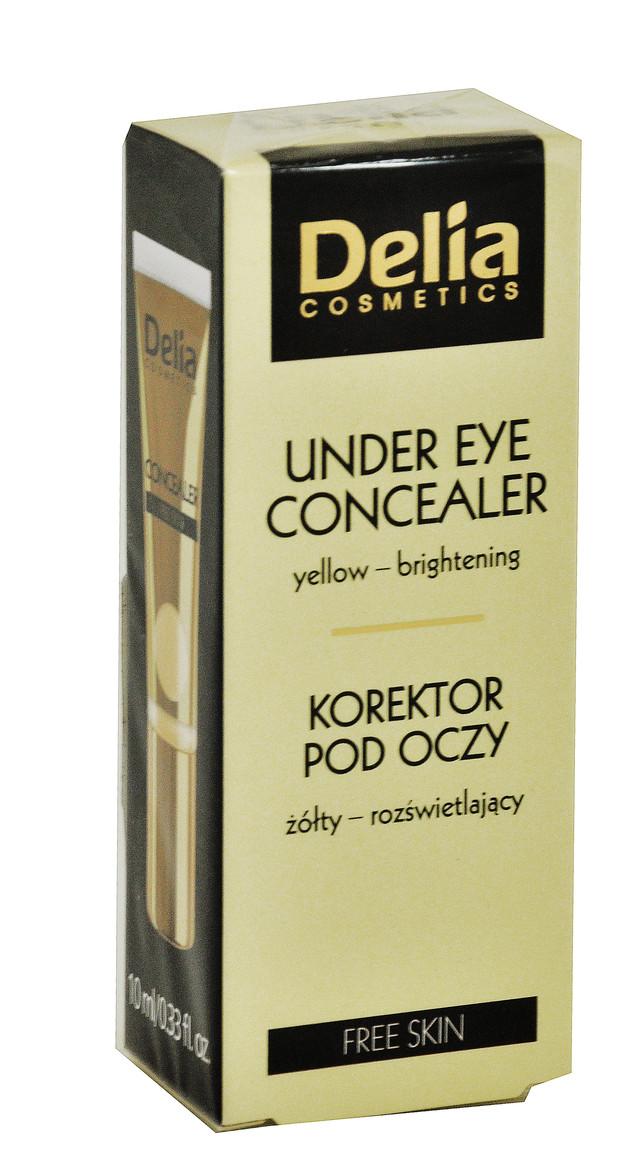 """Корректор под глаза """"Delia"""" Free Skin светло-желтый с осветляющим эффектом (10ml)"""