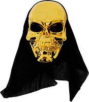 Маска черепа (маска скелета) золото