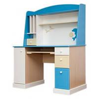 Детская модульная мебель Sea&Sky, Стол компьютерный с надстройкой
