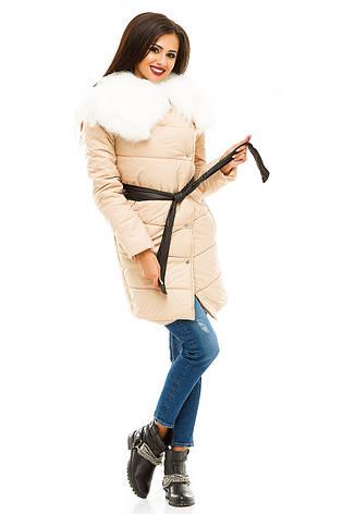 Женская Стеганая куртка с меховой отделкой, фото 2